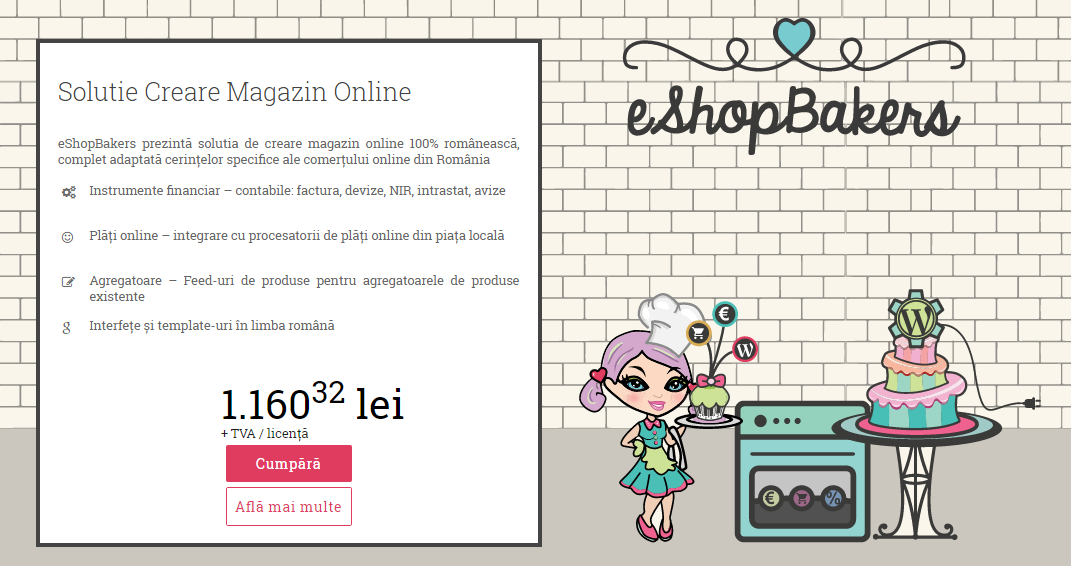 Creare Magazin Online eShopBakers