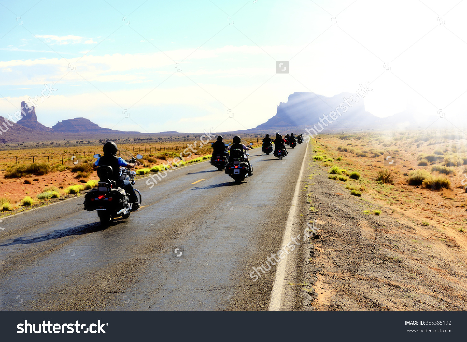 Motorcycle ride photo